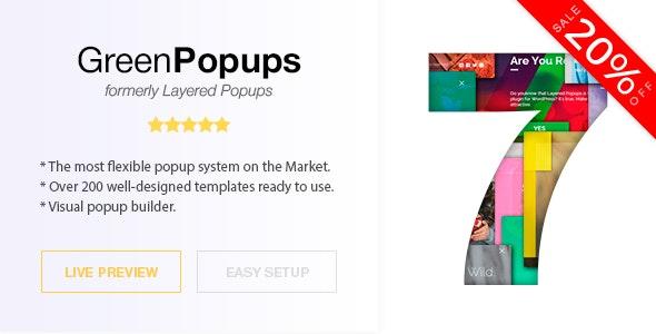 Popup Plugin for WordPress Green Popups