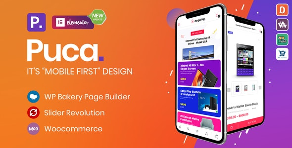 Puca 2.4.0 Optimized Mobile Best WooCommerce Theme latest version download
