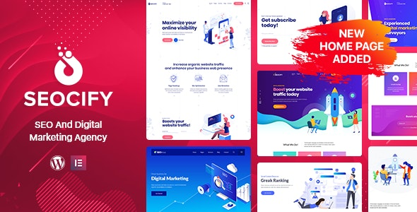 Seocify SEO And Digital Marketing Agency WordPress Theme