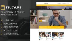 Studylms Education LMS & Courses WordPress Theme