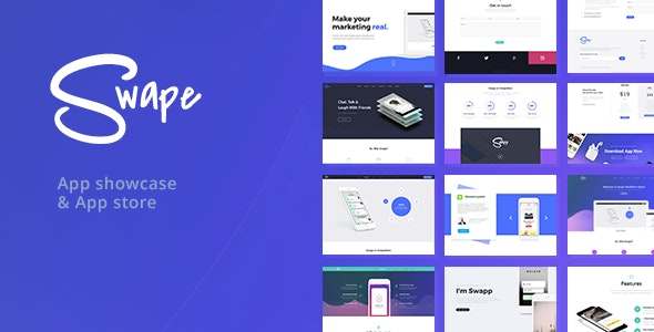 Swape App Showcase & App Store WordPress Theme