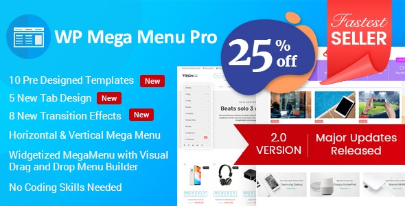 WP Mega Menu Pro Responsive Mega Menu Plugin for WordPress