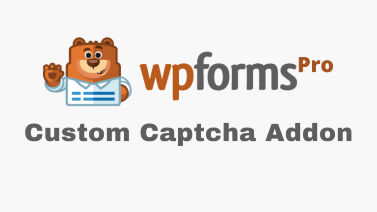 WPForms Custom Captcha Addon