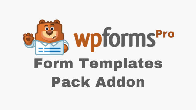 WPForms Form Templates Pack Addon