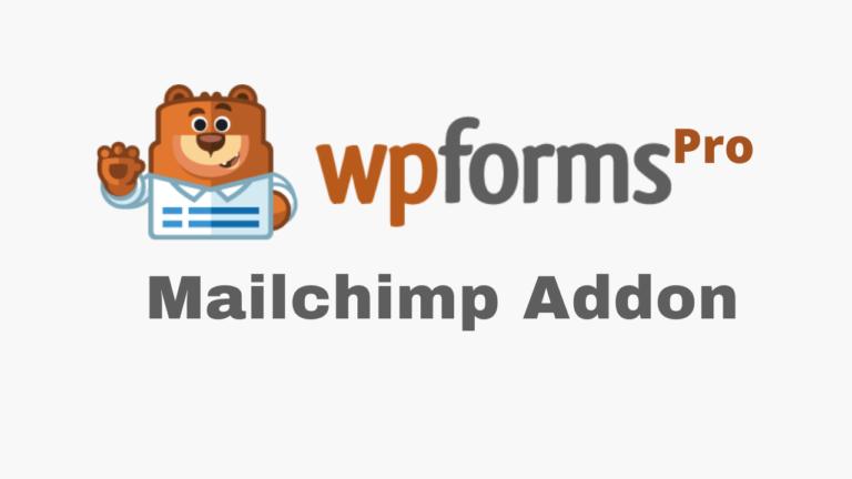 WPForms Mailchimp Addon