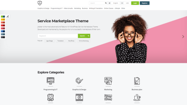 WPJobster Best Service Marketplace WordPress Theme