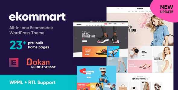 ekommart All-in-one eCommerce WordPress Theme