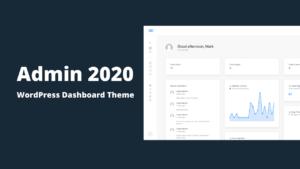 Admin 2020 Modern WordPress Dashboard Theme