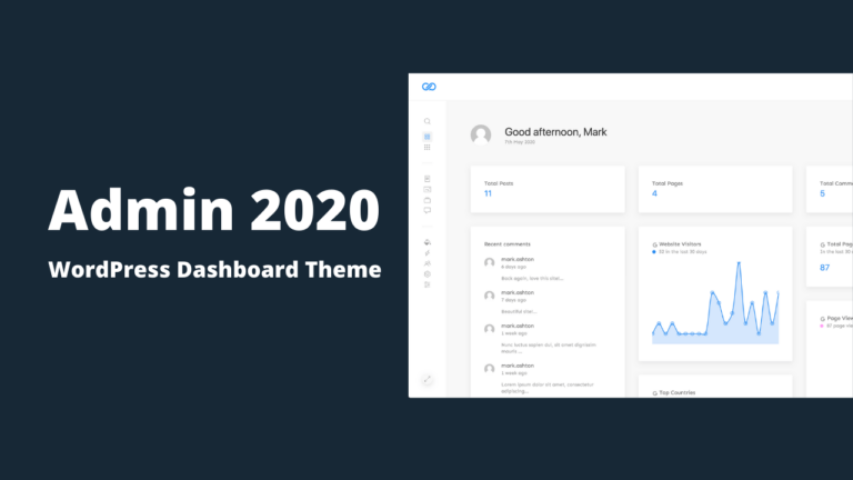 Admin 2020 Modern WordPress Dashboard Theme