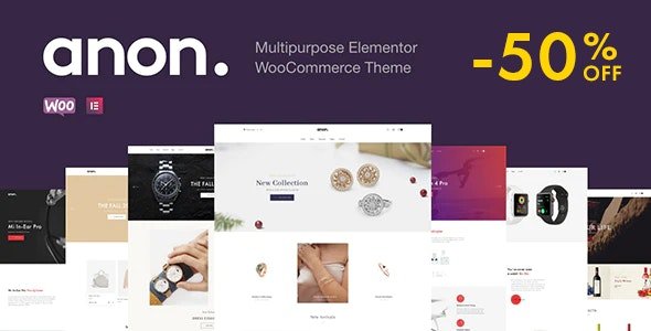 Anon Multipurpose Elementor WooCommerce Theme