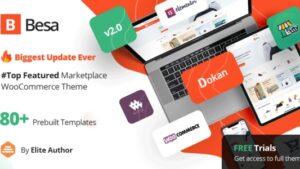 Besa Elementor Marketplace WooCommerce Theme