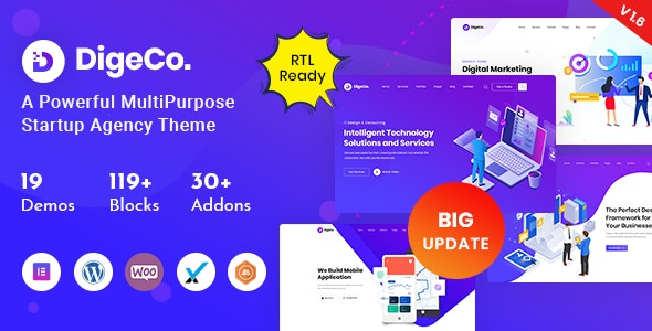 Digeco Startup Agency WordPress Theme