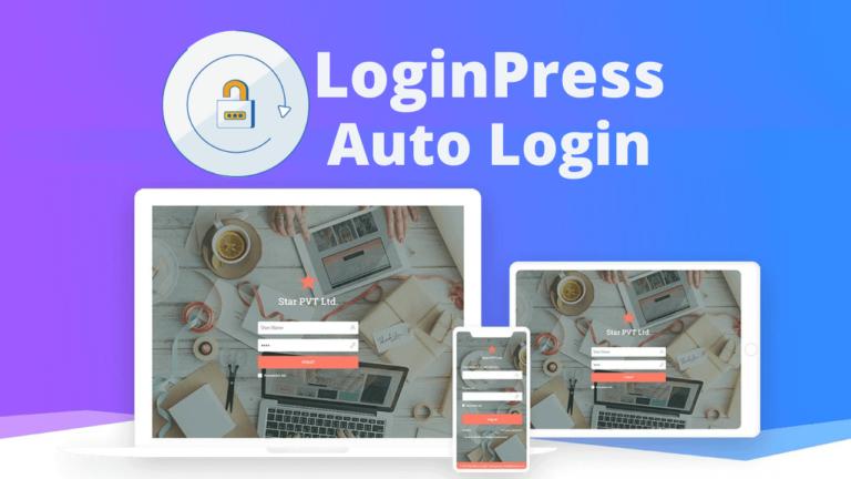 LoginPress Auto Login Custom Login Page Customizer