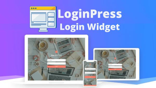 LoginPress Login Widget Custom Login Page Customizer
