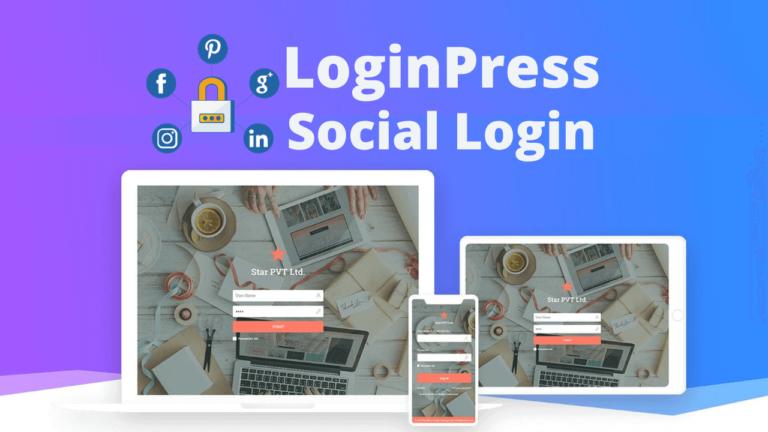 LoginPress Social Login Custom Login Page Customizer