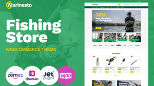 Marinesto Fishing ECommerce Classic Elementor WooCommerce Theme