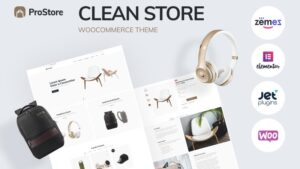 ProStore clean store template for WooCommerce with Elementor WooCommerce Theme