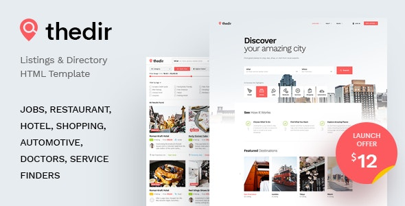 TheDir Listing & Directory HTML Template