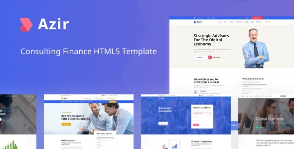 Azir Consulting Finance HTML5 Template