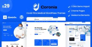 Coronia Covid 19 & Medical WordPress Themes