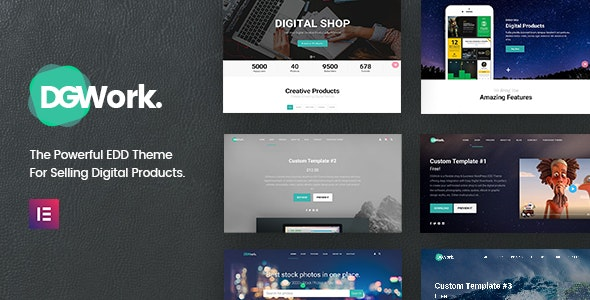 DGWork Responsive Digital Shop & Market Easy Digital Downloads Theme
