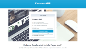 Kadence AMP Accelerated Mobile Pages