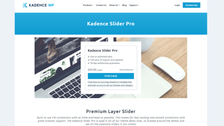 Kadence Slider Pro Premium Layer Slider