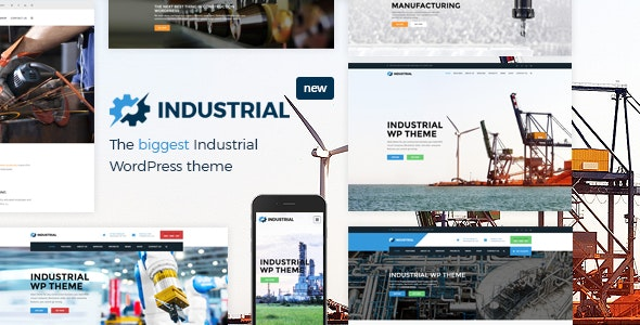 Industrial Factory Business WordPress Theme