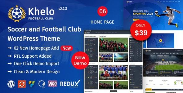 Khelo Soccer & Sports WordPress Theme