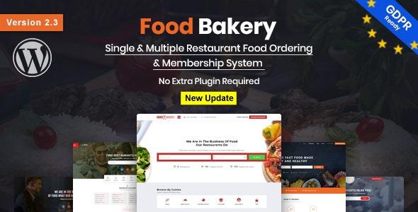 FoodBakery Delivery Restaurant Directory WordPress Theme